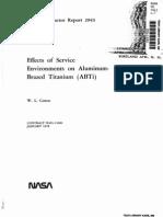 Effects of Service Environment on Aluminium-Brazed ABTi