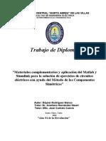 Materiales complementarios y aplicación del Matlab y Simulink para la solución de ejercicios de circuitos eléctricos con ayuda del Método de las Componentes Simétricas