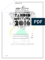Soal Try Out Tahdid 2016