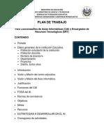 Formato de Plan de Trabajo CAI-ERT