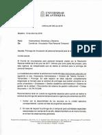 Circular 005 2018. Vicerrectoría Administrativa