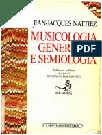 J.J.nattiez,Musicologia Generale e Semiologia 1