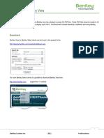 3D PDF With Bentley View