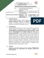TDR Inventario del sistema hidráulico Río  cachi