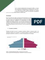 Presupuestos para el departamento de Antioquia año 2017