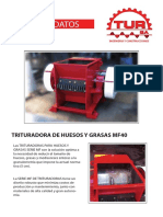 Catalogo Trituradora de Huesos y Grasas Mf40