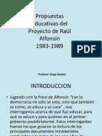 ALFONSIN 1983-1989