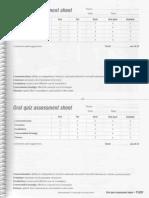 Oral Quiz Assessment Sheet