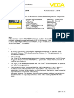 VEGA DTM - Version History Device Driver Version History 180403 en SW0251