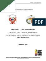 Directiva de Formulacion Ejecucion y Supervision de Obras