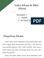 Reaksi-Reaksi Alkana & Siklo Alkana PRINT