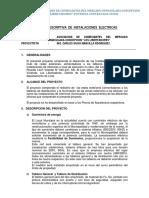 Memoria Descriptiva de Instalaciones Electricas (1)
