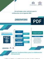 Alianzas público-privadas como vehículo para la consecución de la Agenda 2030