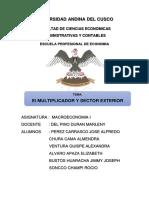El Multiplicador y Sector Exterior