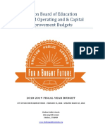 Shelton Board Of Education 2018-2019 Budget Book
