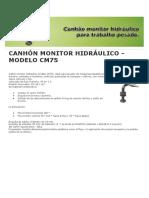 Catalogo Ehbombas Canhón Monitor Hidráulico