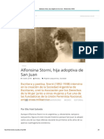 Alfonsina Storni, Hija Adoptiva de San Juan – Revista de La UNSJ