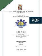 Formato General Silabo-sunedu Arquitectura