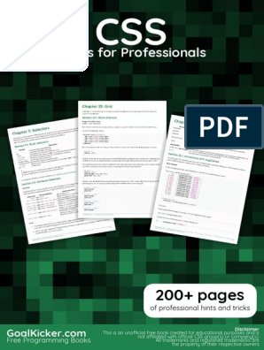 Css Notes for Professionals | Cascading Style Sheets | Computing