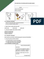 Evaluación Semestral de Comunicación Segundo Grado