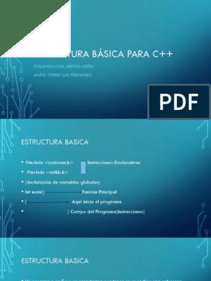 Estructura Basica Para C 11 C Programa De Computadora