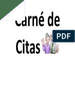 Carné de Citas