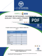 Informe PQRS Primer Trimestre de 2017