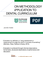 evaluation methodology and application to dental curriculum