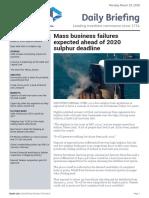 Sulphur 2020- Lloyds Daily Briefing