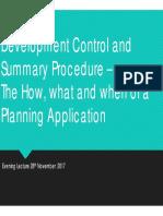 Development Control and Summary Procedure