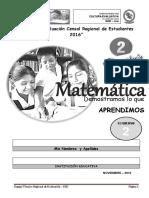 Cuaderno Matematica- 2° grado Secundaria  2 ECER II