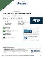 Report Autocheck de Mi Carro