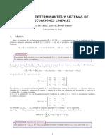 Matrices Determinantes y Sistemas de Ecuaciones Lineales