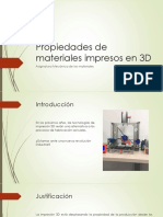 Propiedades de Materiales Impresos en Impresoras 3D