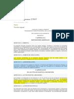 Decreto Supremo 27957 Reglamento a La Ley de DDRR