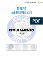 REGULAMENTO TORNEIO INTERMODALIDADES