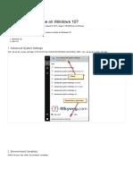 How to Set Java_home on Windows 10