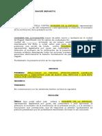 Modelo Tutela d. Petición