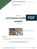 Un Proceso Constituyente Canario