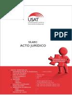 Sílabo de Acto Jurídico 2014-II Prof Romina Santillán