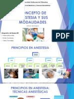 Concepto de Anestesia y Sus Modalidades