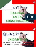 Clase 02 - Situación Actual de La Aplicación de Conceptos de Calidad en La Construcción
