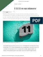 ¿Por Qué El 11_11 Es Un Número Mágico