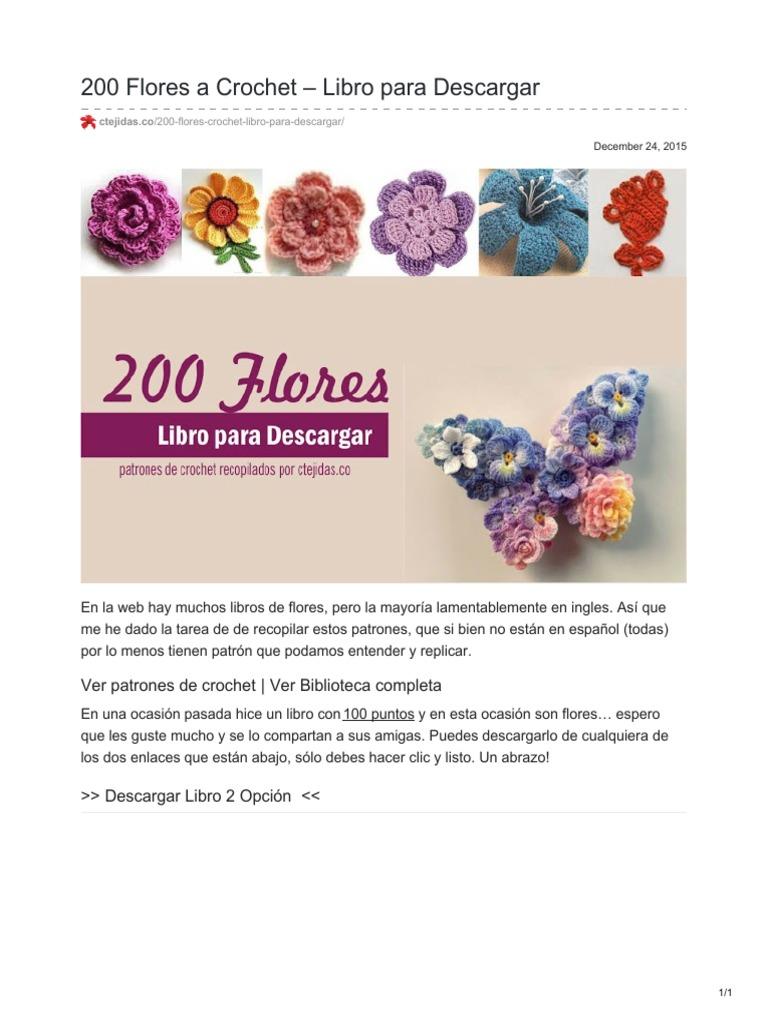Ctejidas.co-200 Flores a Crochet Libro Para Descargar