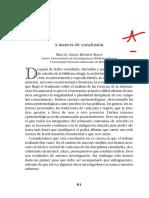 Bibliotecologia Archivistica Documentacion a Manera de Conclusion Miguel Angel Rendon Rojas