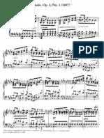 Scriabine Etude Op. 2 n, 1