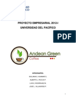 Andean green coffee
