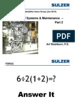 Sulzer - FSRUG - SGFP Lube Oil Systems & Maintenance (Part 2, Jan 2014) (1)