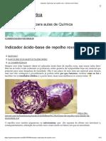 Indicador Ácido-base de Repolho Roxo – Química Em Prática
