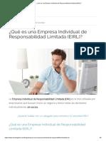 ¿Qué Es Una Empresa Individual de Responsabilidad Limitada (EIRL)